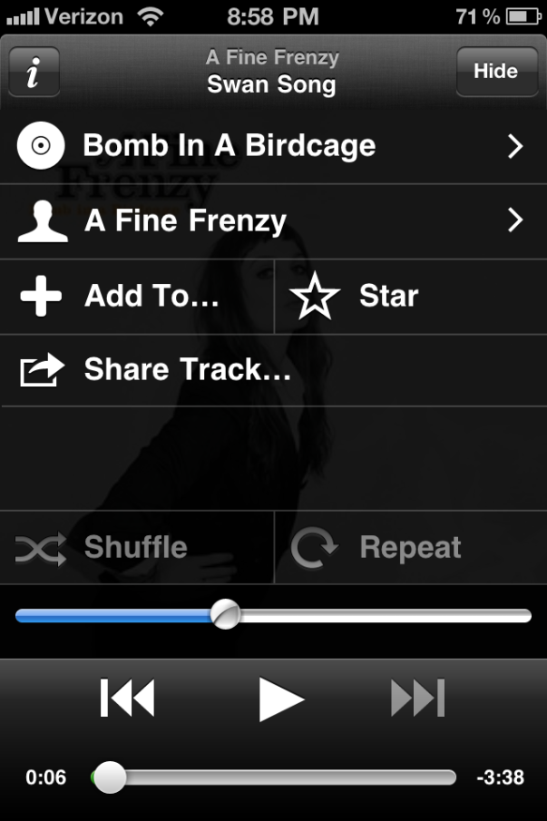 Spotify iPhone app