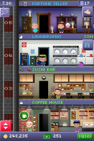 Tiny Tower Game Screen