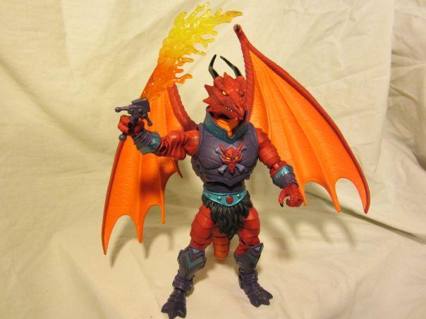 Draego-Man with flame sword