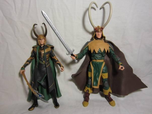 Avengers Loki and Marvel Legends Loki