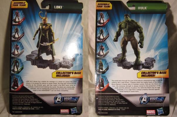 Avengers Loki and Hulk cardback