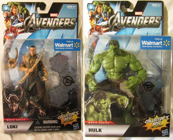 Avengers Loki and Hulk carded