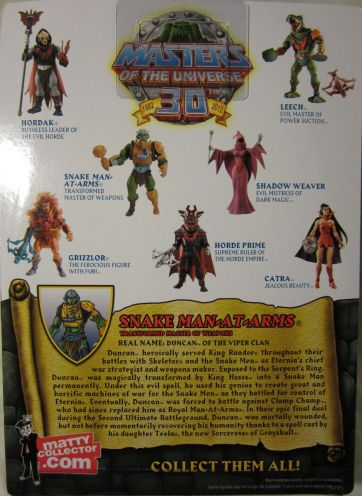 Snake Man-at-Arms cardback / bio