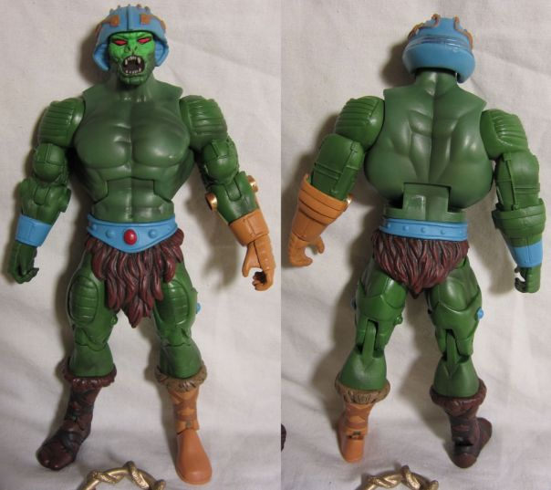 Snake Man-at-Arms front and back, naked