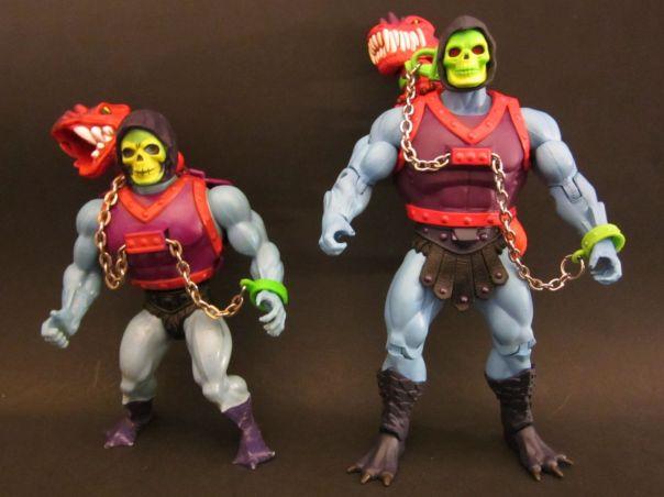Dragon Blaster Skeletor vintage and Classics comparison