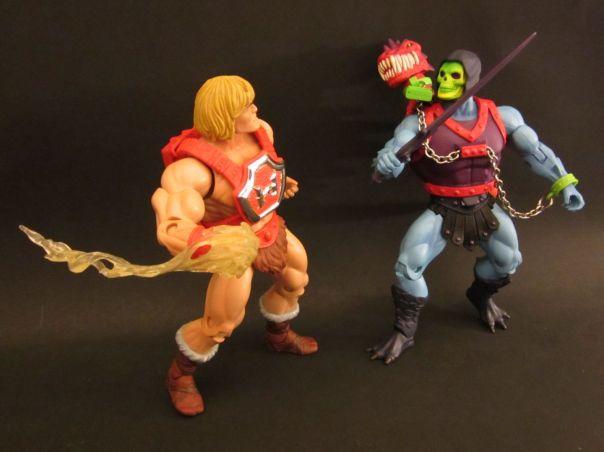 Dragon Blaster Skeletor vs. Thunder Punch He-Man