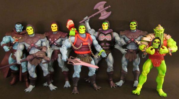 Skeletor comparison group shot