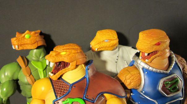 Snake Men heads